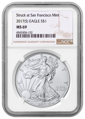 2017-(S) American Silver Eagle NGC MS69