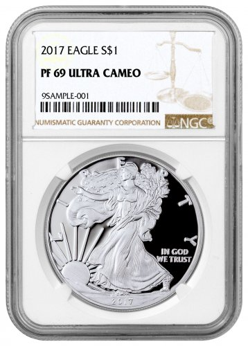 2017-W Proof American Silver Eagle NGC PF69 UC