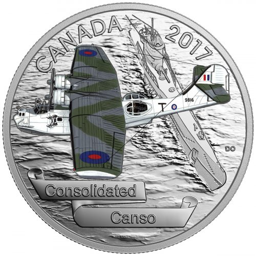 2017 Canada Aircraft of the Second World War - Consolidated Canso 1 oz Silver Colorized Proof $20 Coin GEM Proof (OGP)