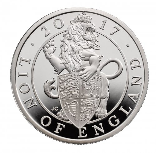 2017 Great Britain 1 oz Silver Queen's Beasts - Lion of England Proof £2 Coin GEM Proof OGP