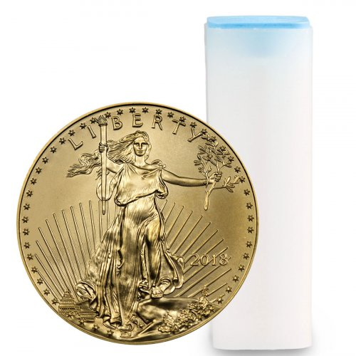 Roll of 40 - 2018 1/4 oz Gold American Eagle $10 GEM BU