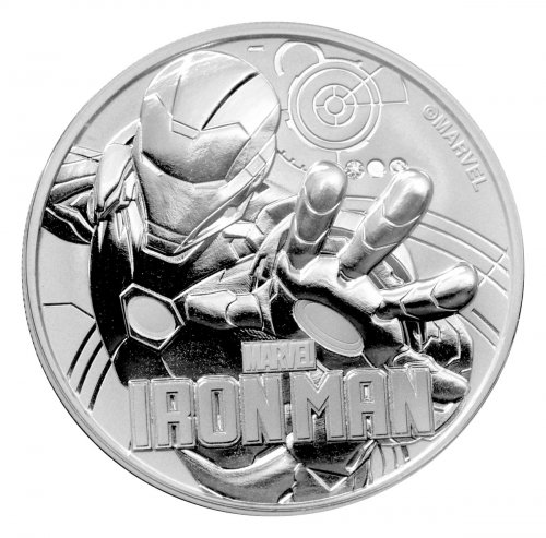 2018 Tuvalu Iron Man 1 oz Silver Marvel Series $1 Coin GEM BU