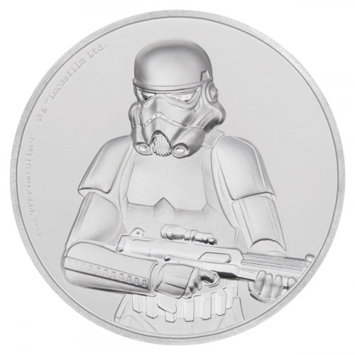 2018 Niue Star Wars Classic - Stormtrooper Ultra High Relief 2 oz Silver Proof $5 Coin GEM Proof OGP