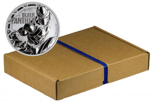 Mint Box of 100 - 2018 Tuvalu Black Panther 1 oz Silver Marvel Series $1 Coins GEM BU Original Mint Capsules