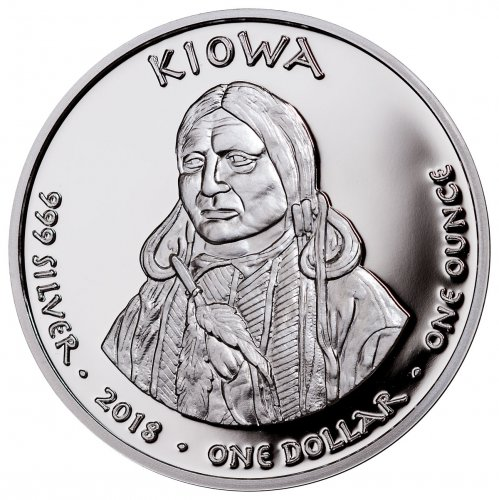 2018 Native American Silver Dollar - Wyoming Kiowa - Horned Lizard 1 oz Silver Proof Coin GEM Proof Original Mint Capsule