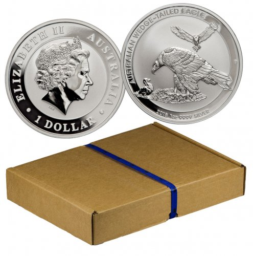 Monster Box Of 100 2018 P Australia 1 Oz Silver Wedge