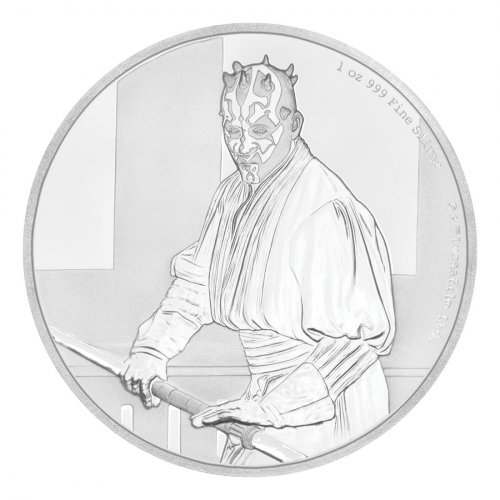 2018 Niue Star Wars Classic - Darth Maul 1 oz Silver Proof $2 Coin GEM Proof OGP