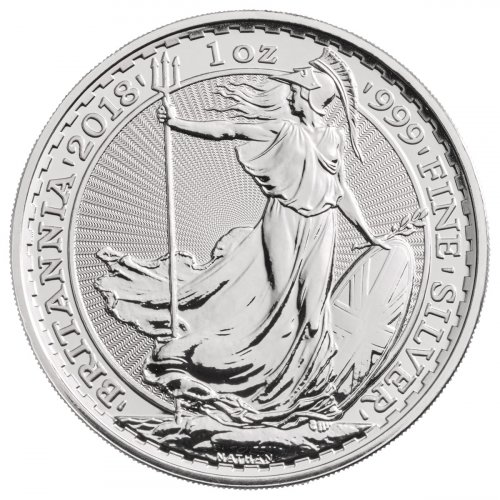 2018 Great Britain 1 oz Silver Britannia £2 Coin GEM BU