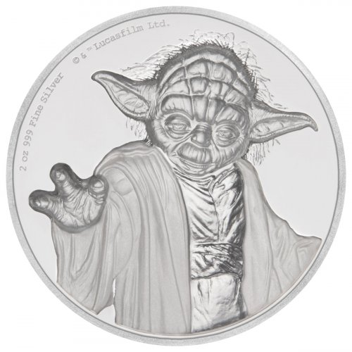 2018 Niue Star Wars - Yoda Ultra High Relief 2 oz Silver Proof $5 Coin GEM Proof OGP