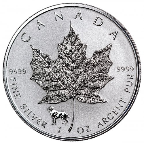 2018 Canada 1 oz Silver Maple Leaf - Dog Privy Reverse Proof $5 Coin GEM Proof