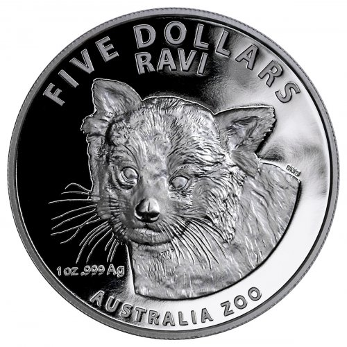 2018 Australia Australia Zoo - Ravi the Red Panda 1 oz Silver Proof $5 Coin GEM Proof