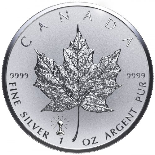 2018 Canada 1 oz Silver Maple Leaf - Light Bulb Privy Reverse Proof $5 Coin GEM Proof
