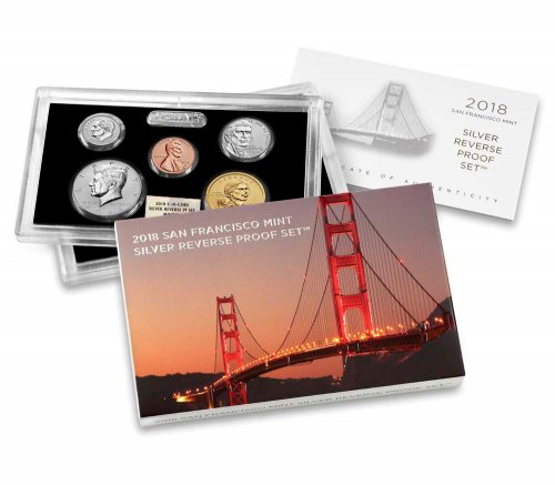 2018-S U.S. Silver Reverse Proof Set NGC GEM Reverse Proof