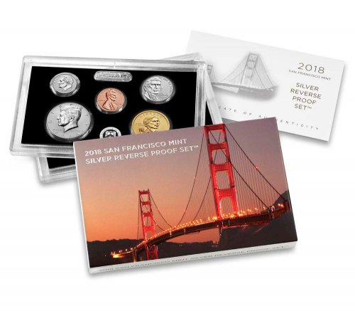 2018-S U.S. Silver Reverse Proof Set