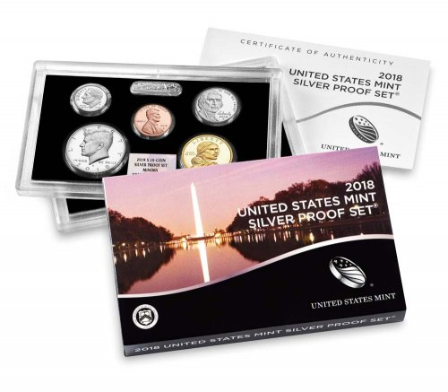 2018-(S) U.S. Silver Proof Coin Set NGC GEM Proof FDI