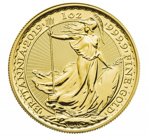 2019 Great Britain 1 oz Gold Britannia - Oriental Border £100 Coin GEM BU