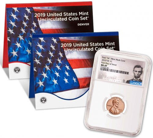 2019-W Lincoln Cent NGC MS69 FDI Lincoln Label +2019 U.S. Mint Set