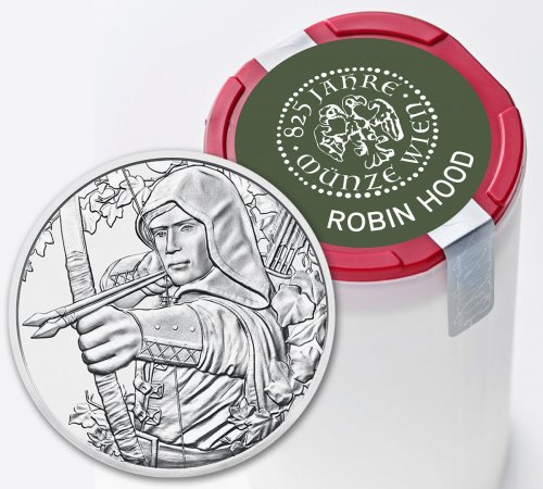 Roll of 20 - 2019 Austria Robin Hood - 825th Anniversary of Austrian Mint 1 oz Silver €1.50 Coins GEM BU