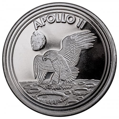 2019 Apollo 11 1 oz Silver Round GEM BU