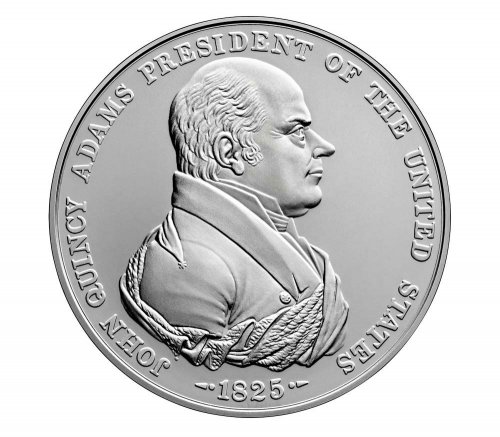 (2019) United States John Quincy Adams Presidential 1 oz Silver Medal GEM BU