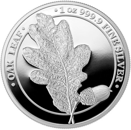 2019 Germania Mint Oak Leaf Medal 1 oz Silver Proof GEM Proof OGP
