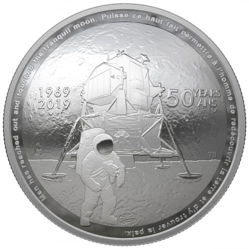 2019 Canada Apollo 11 Domed - 50th Anniversary 1 oz Silver Proof $25 Coin GEM Proof OGP