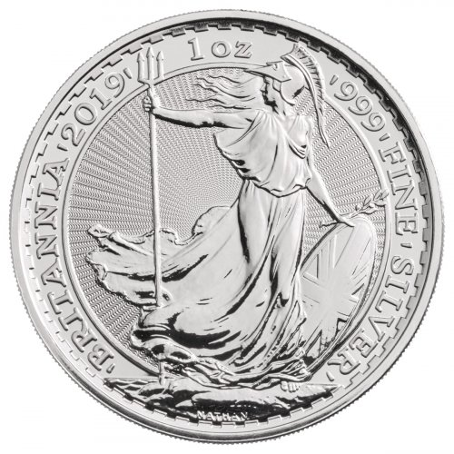 2019 Great Britain 1 oz Silver Britannia £2 Coin GEM BU
