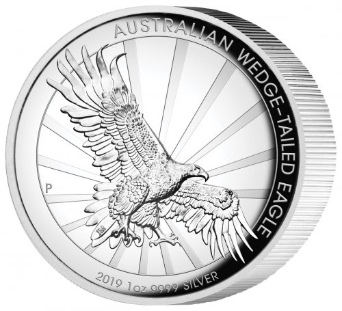 2019-P Australia 1 oz High Relief Silver Wedge-Tailed Eagle Proof $1 Coin GEM Proof