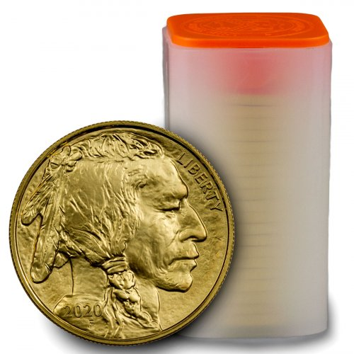 Roll of 20 - 2020 1 oz Gold Buffalo $50 Coins GEM BU