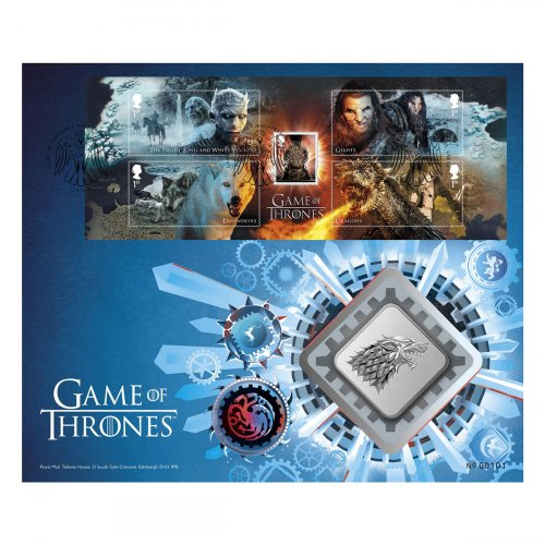 A Game of Thrones Clad Medal House Stark GEM BU Cover
