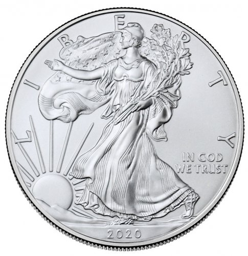 2020 1 oz American Silver Eagle $1 Coin GEM BU