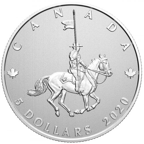 2020 Canada 100th Anniversary of RCMP 1/4 oz Silver Specimen $5 Coin BU OGP
