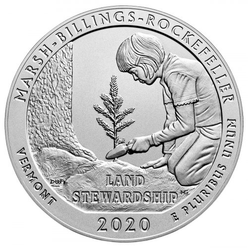 2020-P Marsh-Billings-Rockefeller National Historical Park 5 oz. Silver America the Beautiful Specimen Coin GEM Specimen OGP