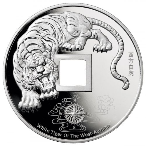 2020 China White Tiger of the West Vault Protector 5 oz Silver Proof Medal GEM Proof