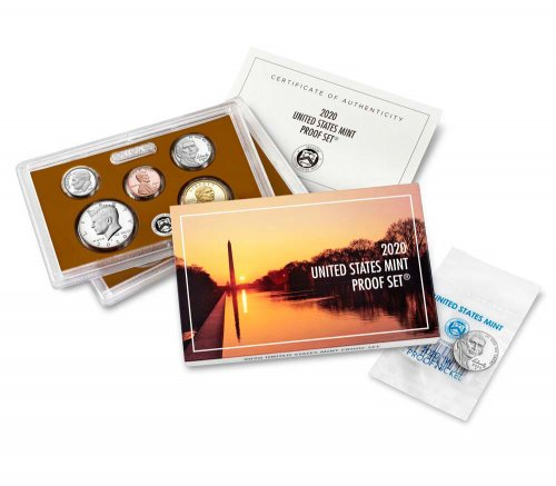 2020-S U.S. Proof Coin Set With 2020-W Jefferson Proof Nickel GEM Proof