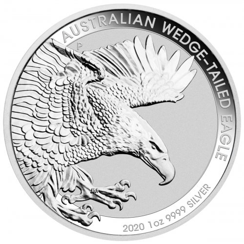 2020-P Australia 1 oz Silver Wedge-Tailed Eagle $1 Coin GEM BU