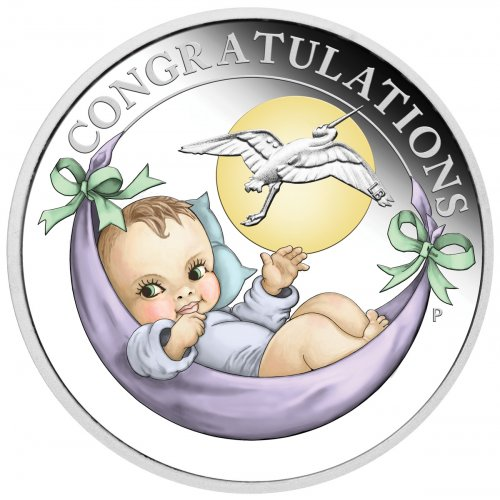 2021-P Australia Newborn 1/2 oz Silver Colorized Proof $0.50 Coin GEM Proof OGP