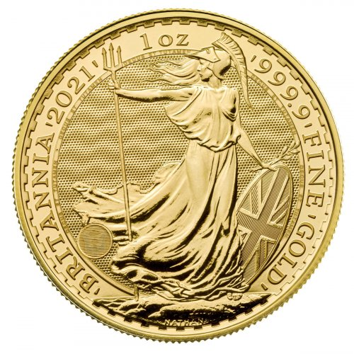 2021 Great Britain Gold Britannia 1 oz Gold £100 Coin GEM BU