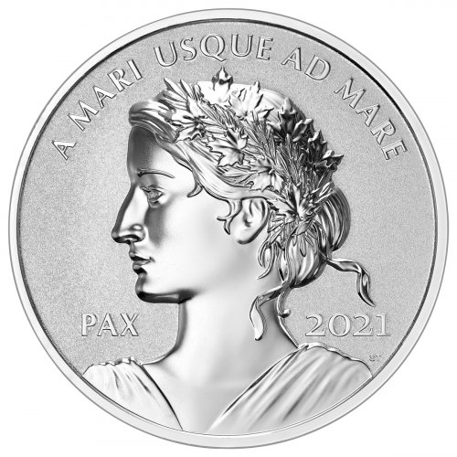 2021 Canada 1 oz Silver Peace Dollar Ultra High Relief Reverse Proof $1 Coin GEM Reverse Proof OGP