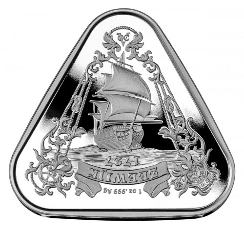 2021 Australia Shipwreck Series - Zeewijk Triangular 1 oz Silver $1 Coin GEM BU
