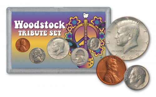 "5-Piece Coin Set - 1969 ""Woodstock Tribute"" Uncirculated BU"