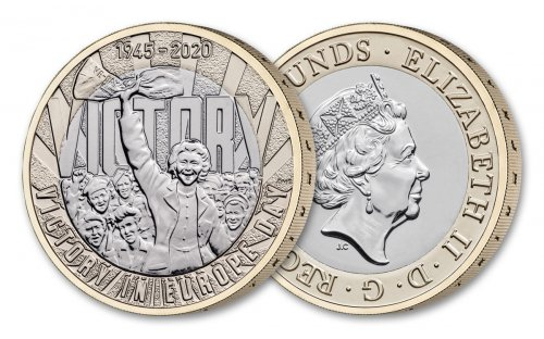 2020 Great Britain Victory in Europe Day - 75th Anniversary Cupronickel £2 Coin GEM BU