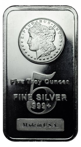 Highland Mint Morgan Dollar Design 5 oz Silver Bar
