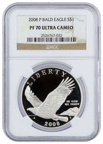 2008-P Bald Eagle Commemorative Silver Dollar Proof NGC PF70 UC