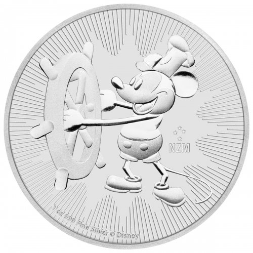 2017 Niue Disney Classics - Mickey Mouse Steamboat Willie 1 oz Silver $2 Coin GEM BU