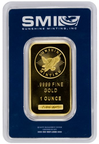 Sunshine Minting Logo 1 oz Gold Bar