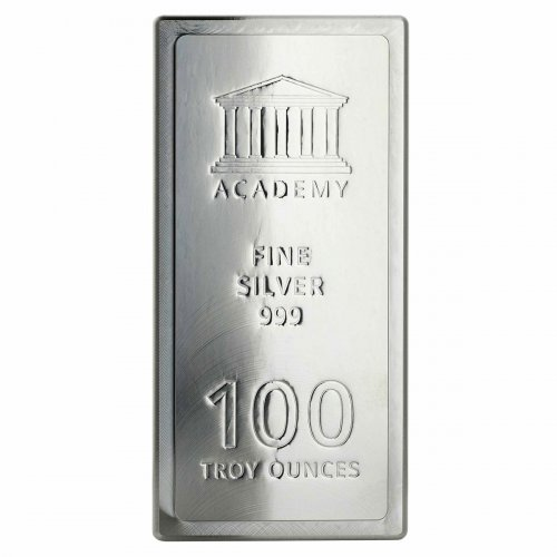 Academy Stacker 100 oz Silver Bar GEM BU