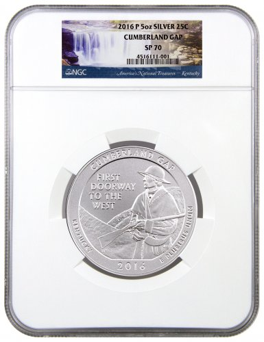2016-P Cumberland Gap 5 oz. Silver America the Beautiful Specimen Coin NGC SP70
