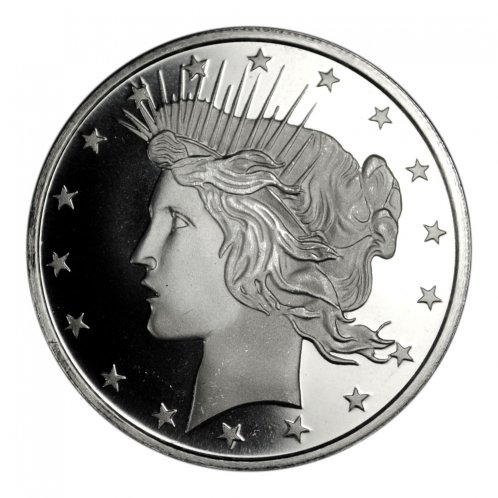 Highland Mint Peace Dollar Design 1 oz Silver Round