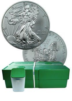 2016 American Silver Eagle Monster Box Gem Bu Mint Sealed